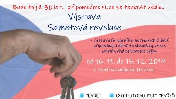 plakát výstava Sametová revoluce