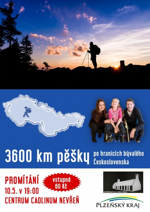 3600km pěšky plakát